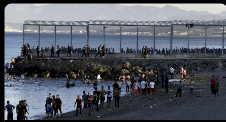 SPAIN DEALING WITH A HUGE INFLUX OF IMMIGRANT TRYING TO ACCESS THE COUNTRY